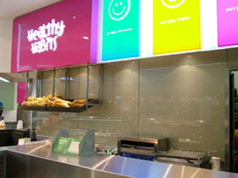 gold-metallic-glass-splashback-in-health-babits-stores-across-melbourne